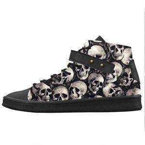 Buty z czaszką