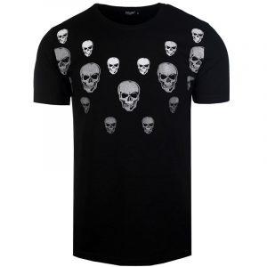 T-Shirt-Meski-z-Nadrukiem-w-Czaszki